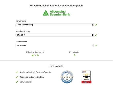 Beantragen Sie hier Ihren ABK Bank Kredit online!
