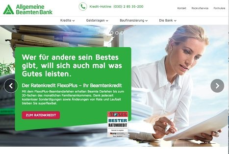 ABK Kredit online beantragen