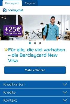 Barclaycard Kredit online beantragen
