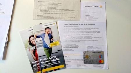Mastercard der Commerzfinanz