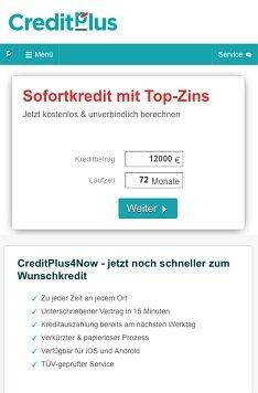 CreditPlus Onlinekredit beantragen