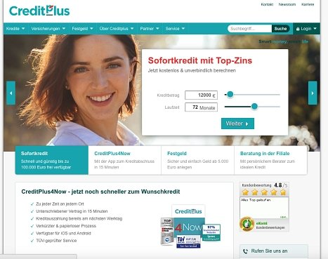 CreditPlus Kredit online beantragen
