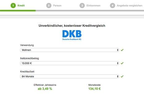 DKB bank Kredit online beantragen