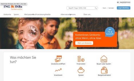 ING DiBa Ratenkredit online aufnehmen