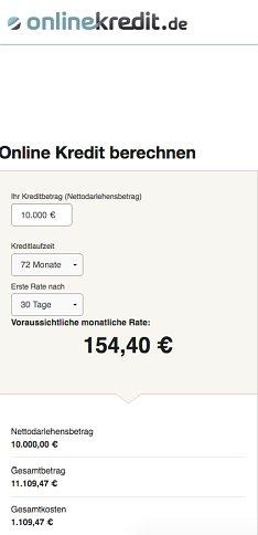 Ratenkredit von onlinekredit.de beantragen