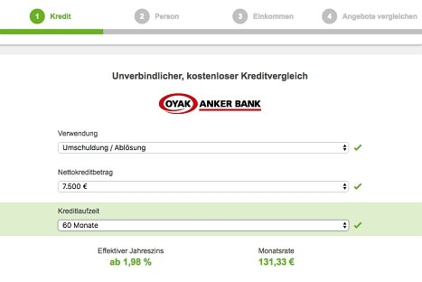 Kreditanfrage OYAK ANKER Bank