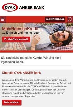 OYAK ANKER Bank Kredit online beantragen
