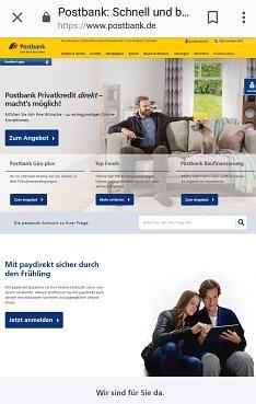 Postbank Onlinekredit hier beantragen