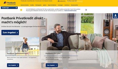 Postbank online Kreditanfrage