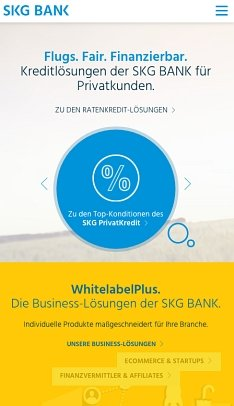 Ratenkredit der SKG Bank Online beantragen