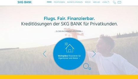 SKG Onlinekredit hier aufnehmen